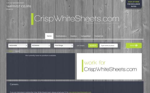 Screenshot of Jobs Page crispwhitesheets.com - Crisp White Sheets | Luxury Hotels | Careers - captured Oct. 3, 2014