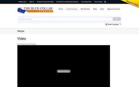 Screenshot of Press Page thebluecollarinvestor.com - Media | The Blue Collar Investor - captured Oct. 26, 2014