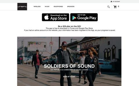 Screenshot of Signup Page solrepublic.com - SolRepublic.com |  Soldier of Sound | Home - captured Aug. 23, 2016
