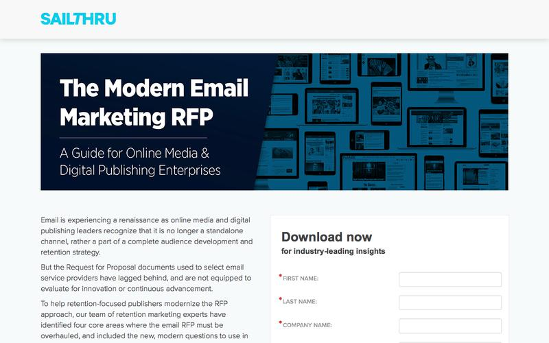 Email Marketing RFP for Publishers | Sailthru