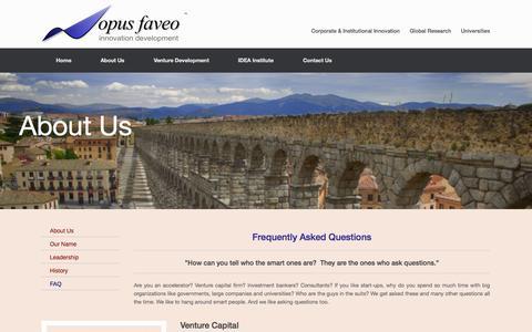 Screenshot of FAQ Page opus-faveo.com - FAQ | Opus Faveo Innovation Development - captured Oct. 7, 2014