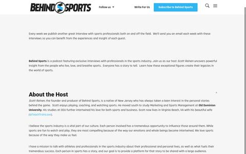 Screenshot of About Page behindsports.com - About Behind Sports | BehindSports.com - captured Dec. 31, 2015