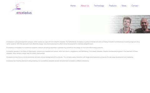 Screenshot of About Page enceladus.nl - About Us | Enceladus Pharmaceuticals - captured Oct. 2, 2014
