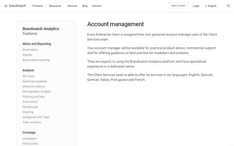 Account management | Brandwatch