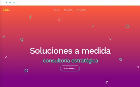 Screenshot of Home Page didchannel.com - DIDChannel España Señalización Digital – Señalización Digital y Publicidad - captured Oct. 7, 2018