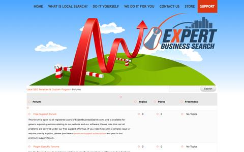 Screenshot of Support Page expertbusinesssearch.com - Forums Archive | Expert Business Search - captured Oct. 3, 2014