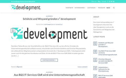 Screenshot of Blog c2-development.de - Blog - c² development - captured Oct. 21, 2018