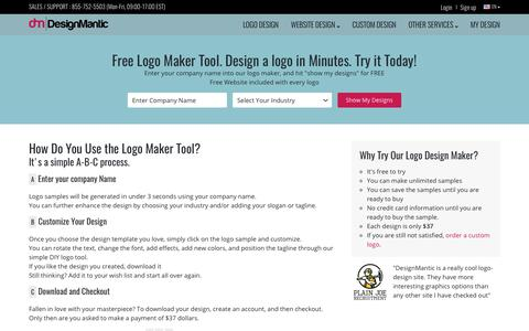 Free Logo Maker Tool Online | DesignMantic: The Design Shop