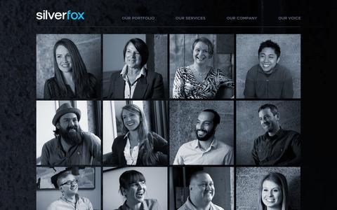 Screenshot of Team Page silverfoxprod.com - Our Team - Silver Fox Productions - Silver Fox Productions - captured Oct. 9, 2014