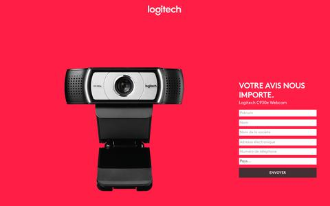 Screenshot of Landing Page logitech.com - Logitech C930e Webcam | Contact Us - captured July 23, 2017