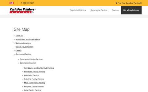 Screenshot of Site Map Page certapro.com - Sitemap - CertaPro Painters - captured April 12, 2017