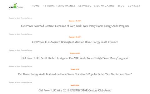 Screenshot of Press Page cielpower.com - Press — Ciel Power LLC | Insulation Contractor | Home Energy Audit - captured Sept. 28, 2018