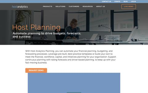 Automate Planning to Drive Budget, Forecast & Success | Host Analytics