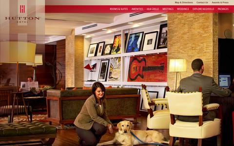 Screenshot of Home Page huttonhotel.com - Downtown Nashville Hotels - Nashville Boutique Hotel | Hutton Hotel - captured Sept. 1, 2015