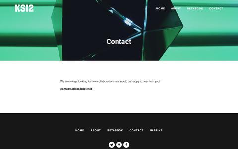 Screenshot of Contact Page ks12.net - Contact — KS12 - captured July 3, 2016