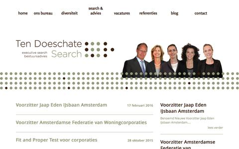 """Screenshot of Blog tdsearch.nl - Category Archive for """"Nieuws"""" 