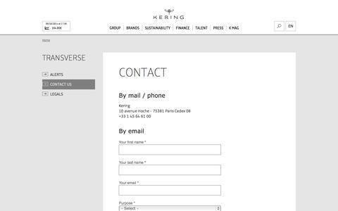 Contact | Kering