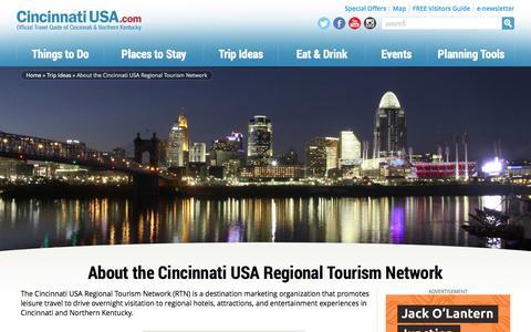 Screenshot of About Page cincinnatiusa.com - About Cincinnati Regional Tourism Network | Cincinnati USA - captured Sept. 24, 2014