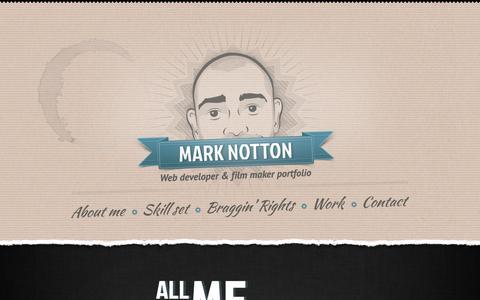 Screenshot of Home Page marknotton.com - Mark Notton - captured Sept. 30, 2014