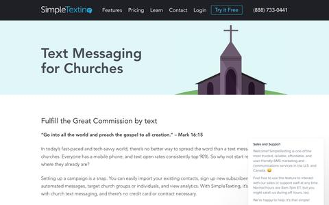 Text Messaging for Churches - SMS Marketing & Text Marketing Services – Try It For Free