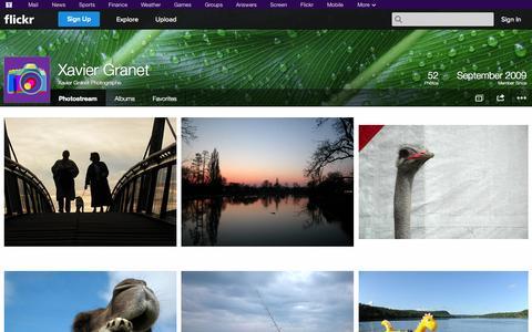Screenshot of Flickr Page flickr.com - Flickr: Xavier Granet Photographe's Photostream - captured Oct. 22, 2014