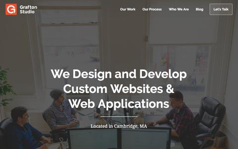 Screenshot of Home Page graftonstudio.com - Grafton Studio - Custom web application and website design and development in Boston - captured Feb. 20, 2017