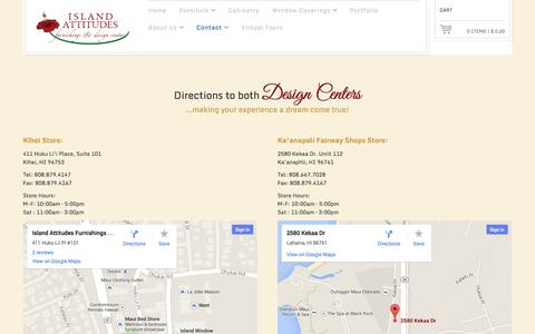 Screenshot of Maps & Directions Page islandattitudesmaui.com - Map Directions | Island Attitudes Maui - captured Oct. 6, 2014