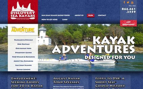 Screenshot of Blog discoveryseakayak.com - Blog - Discovery Kayak - captured Jan. 7, 2016