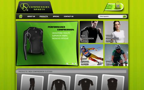 Screenshot of Products Page compressionsp.com - Welcome to :::... COMPRESSION SPORTS ...::: - captured Oct. 3, 2014