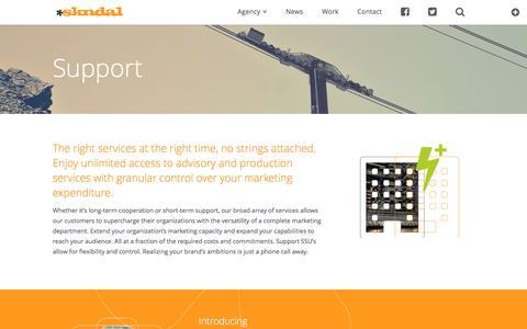 Screenshot of Support Page skndal.com - Support | SKNDAL - captured Nov. 18, 2016