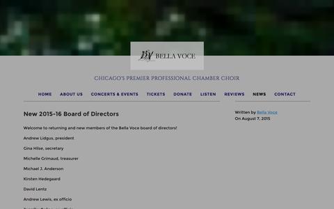 Screenshot of Press Page bellavoce.org - News Ń Bella Voce - captured Dec. 31, 2015