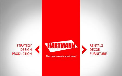 Screenshot of Home Page hartmannstudios.com - Hartmann Studios - The Best Events Start Here. - captured Sept. 29, 2014