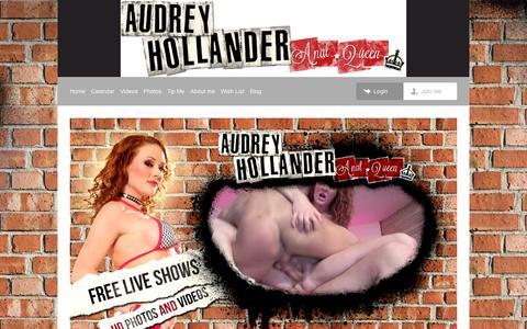 Screenshot of Home Page theaudreyhollander.com - Audrey Hollander | Home - captured Jan. 31, 2018
