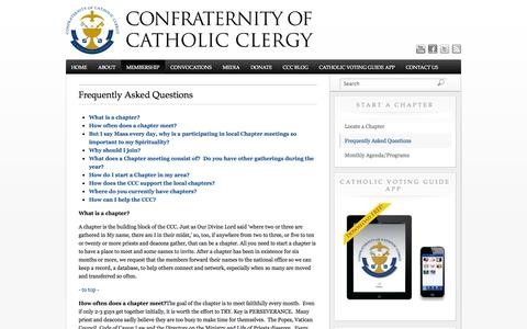 Screenshot of FAQ Page catholicclergy.net - Frequently Asked Questions   Confraternity of Catholic Clergy - captured Oct. 2, 2014