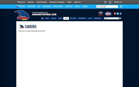 Screenshot of Jobs Page afc.com.au - Careers - AFC.com.au - captured Jan. 21, 2016