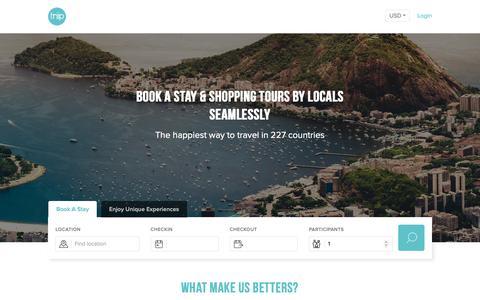 Screenshot of Login Page triip.me - Triip.me - Hotel - captured June 17, 2019