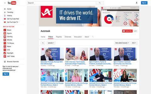 Autotask  - YouTube