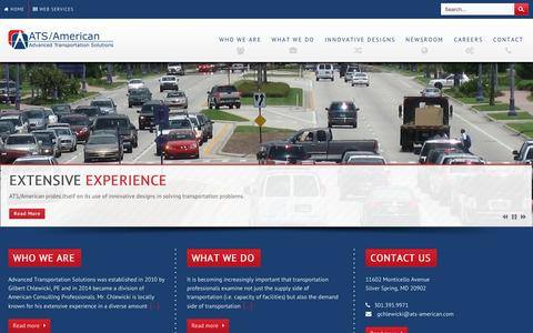 Screenshot of Home Page ats-american.com - Advanced Transportation Solutions (ATS/American) - captured Sept. 10, 2015