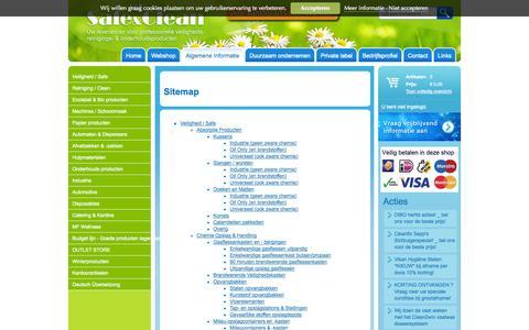 Screenshot of Site Map Page safe-clean.nl - Sitemap - MF Safe & Clean - captured Oct. 3, 2014