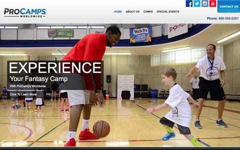 Screenshot of Home Page procamps.com - Welcome to ProCamps - captured Feb. 6, 2015