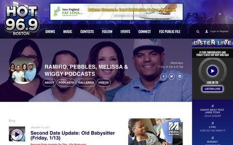Ramiro, Pebbles, Melissa & Wiggy Podcasts - HOT 96.9 Boston