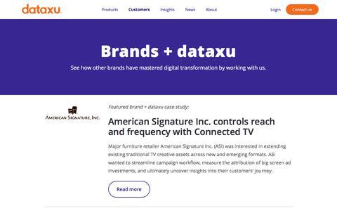 Screenshot of Case Studies Page dataxu.com - dataxu + brand case studies | dataxu advertiser client success stories - captured Nov. 18, 2019