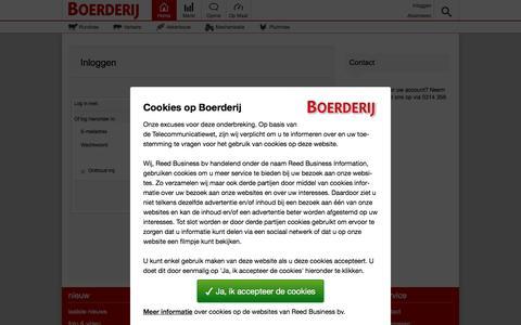 Screenshot of Login Page boerderij.nl - Inloggen - Boerderij.nl - captured March 5, 2016