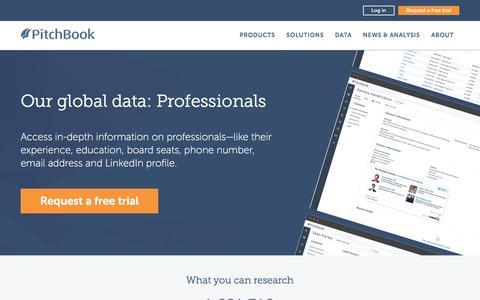 Screenshot of Team Page pitchbook.com - Professionals Data | PitchBook - captured Dec. 28, 2017