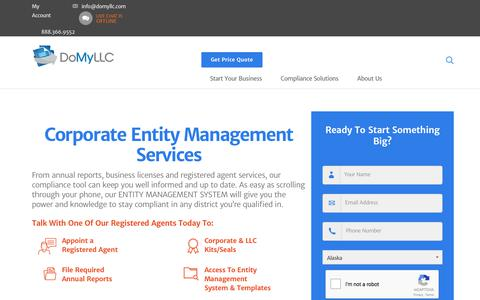 Screenshot of Team Page domyllc.com - Corporate Entity Management Services | DoMyLLC.com - captured Oct. 12, 2017