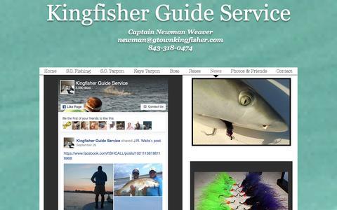 Screenshot of Press Page gtownkingfisher.com - Kingfisher Guide Service, Georgetown SC & Florida Keys | News - captured Nov. 27, 2016