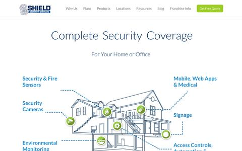 Screenshot of Products Page shield-security.com - Home Security Products - captured Oct. 3, 2014