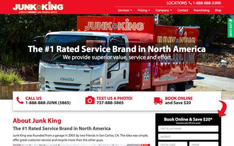 Screenshot of About Page junk-king.com - About Us - Junk Removal and Hauling Services | Junk King - captured June 2, 2018