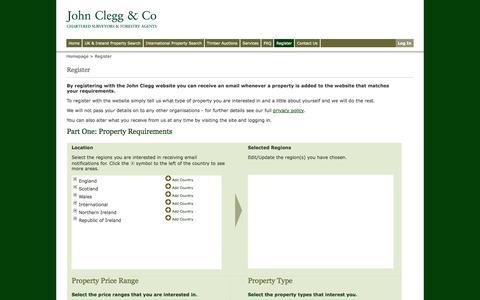 Screenshot of Signup Page johnclegg.co.uk - John Clegg & Co: Sign Up - captured Oct. 6, 2014