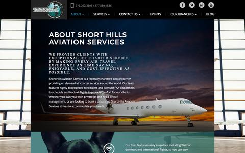 Screenshot of About Page shorthillsaviation.com - Exceptional Jet Charter Service: Short Hills Aviation - captured Feb. 14, 2016